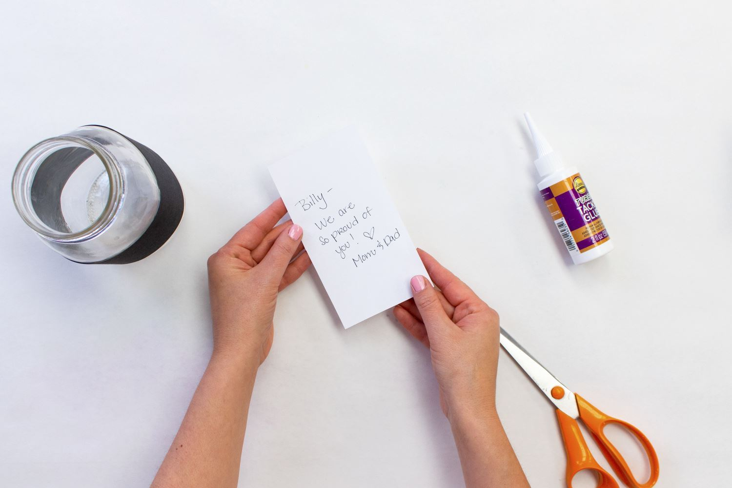 Write a special note on white paper