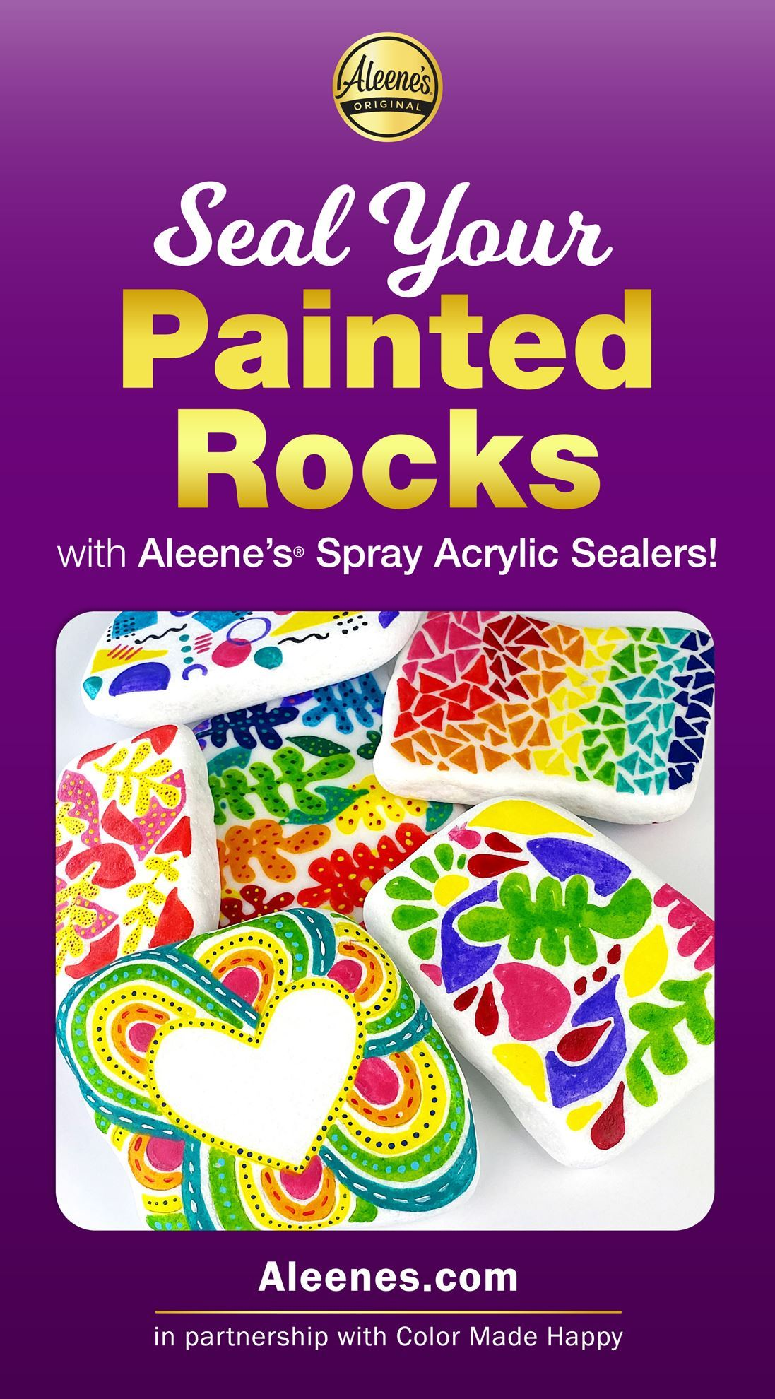 Picture of Seal Your Painted Rocks with Acrylic Spray Sealer