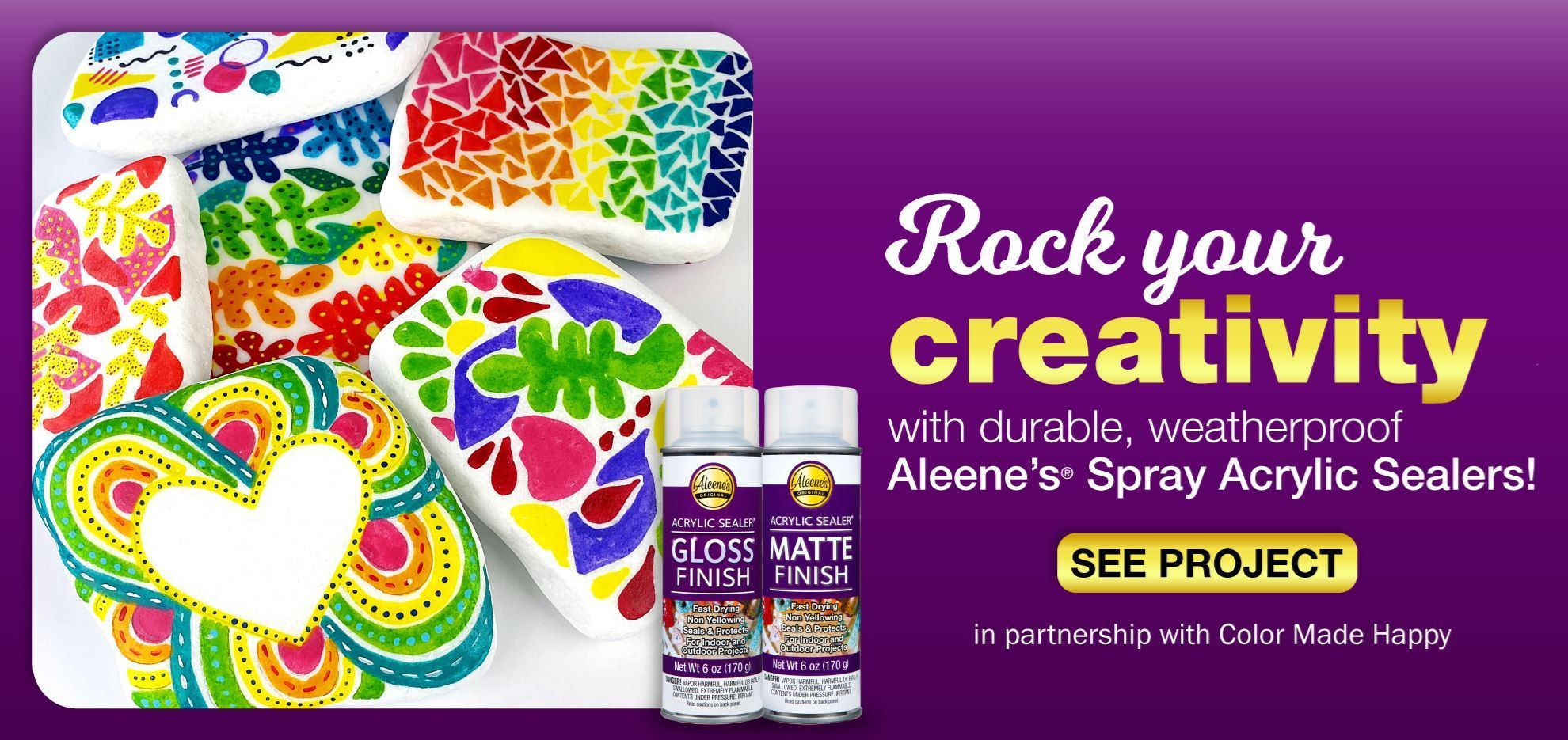 Seal Your Painted Rocks with Acrylic Spray Sealer