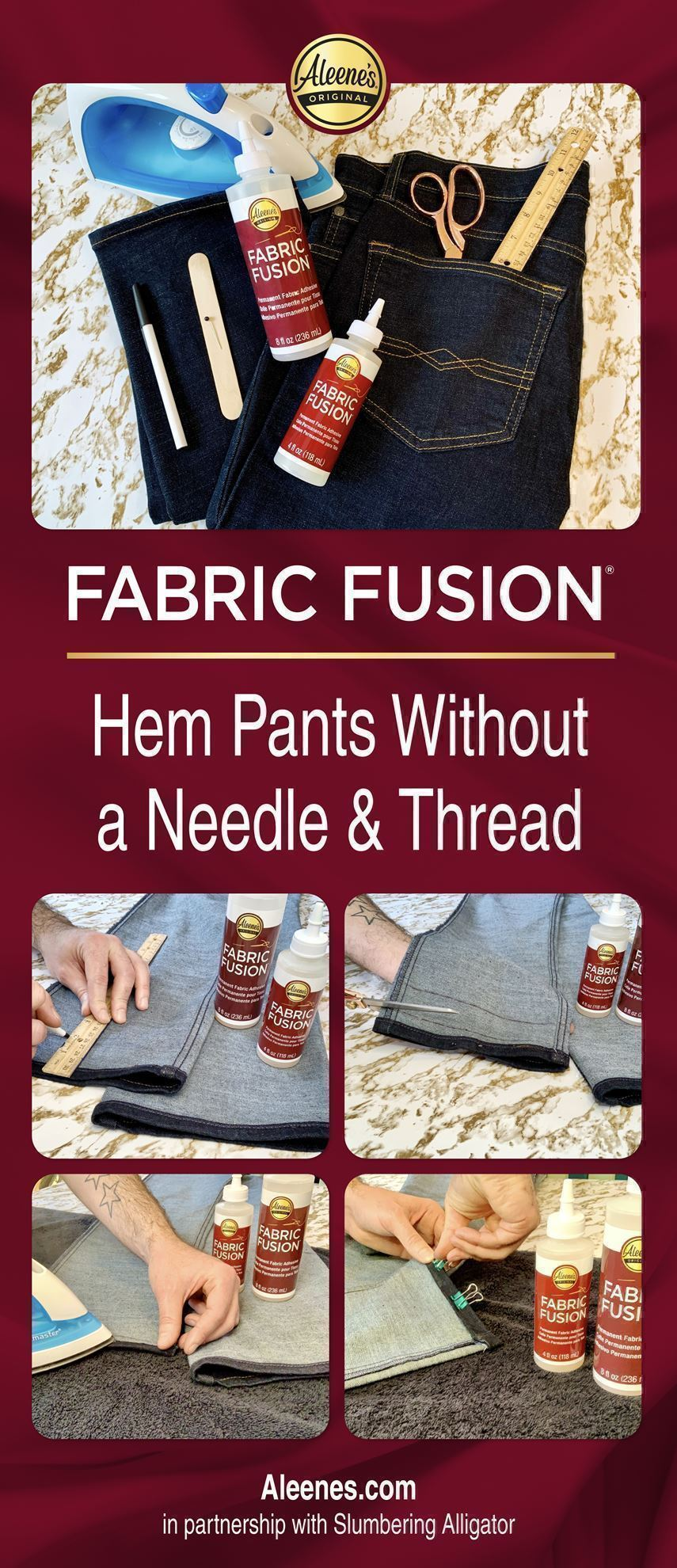 How to Hem Pants with Fabric Glue