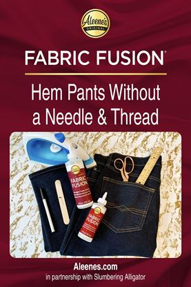 Picture of How to Hem Pants with Fabric Glue