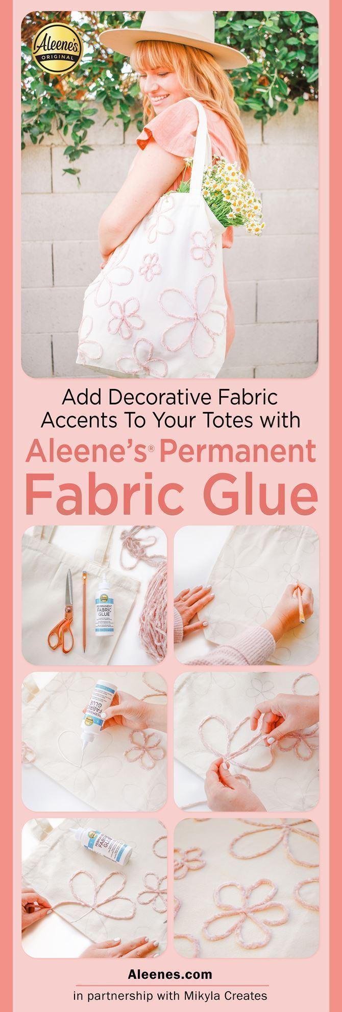 Easiest DIY Tote Bag Designs with Fabric Glue