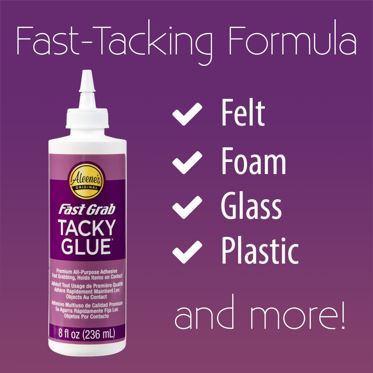Aleene's® Fast Grab Tacky Glue formula