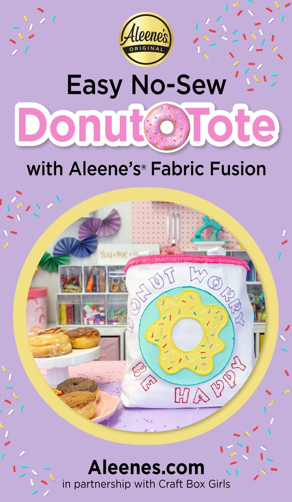 Picture of No-Sew Donut Tote with Fabric Glue