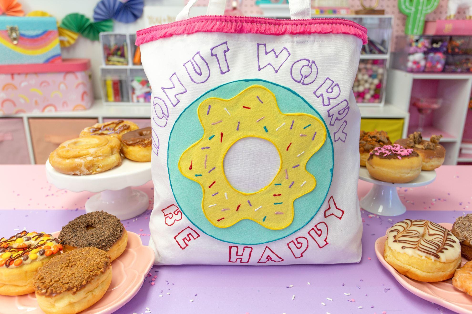 No-Sew Donut Tote
