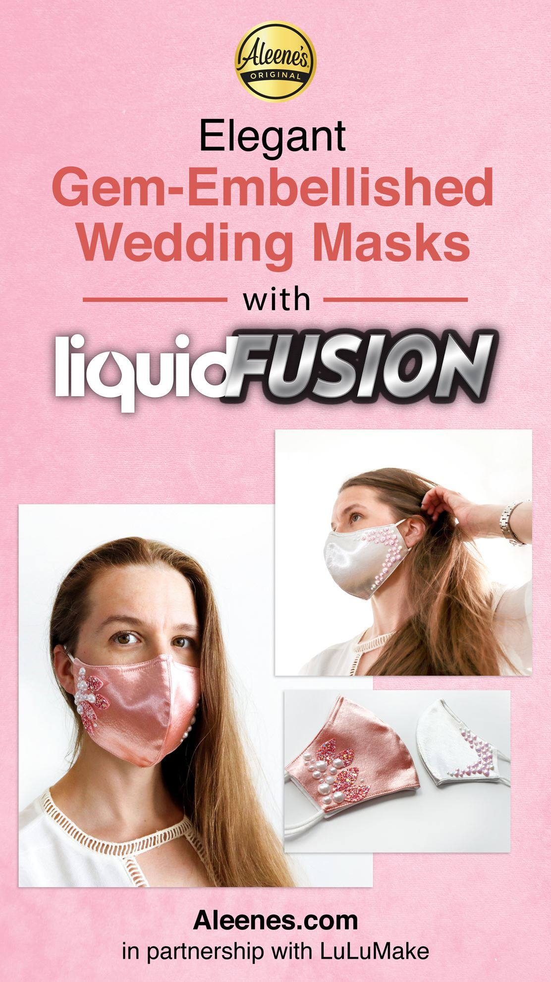 Picture of Gem-Embellished Bridal Face Masks with Liquid Fusion