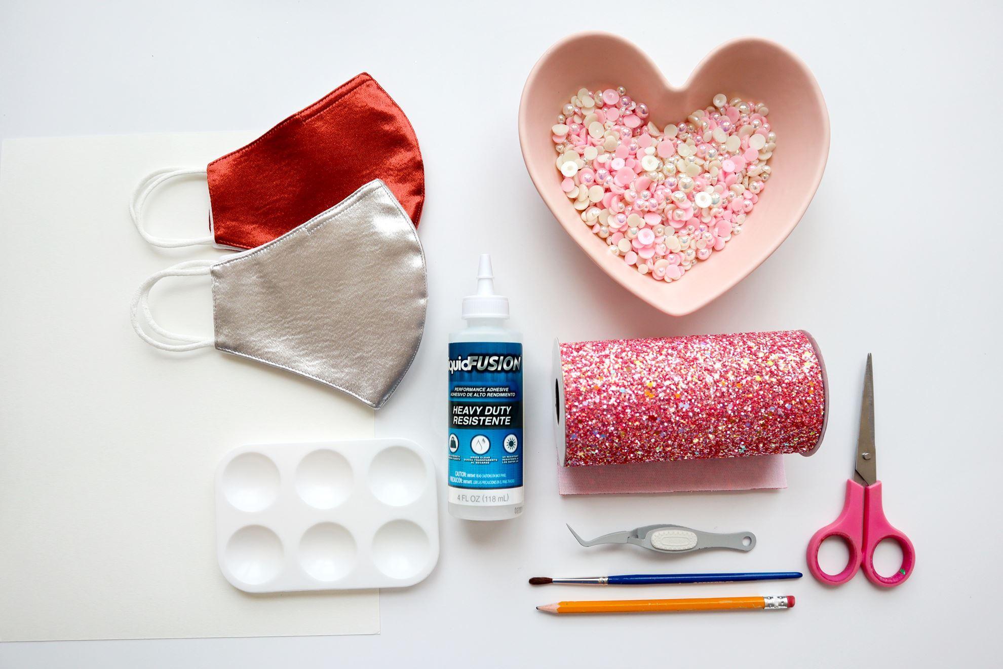 Mask embellishing supplies