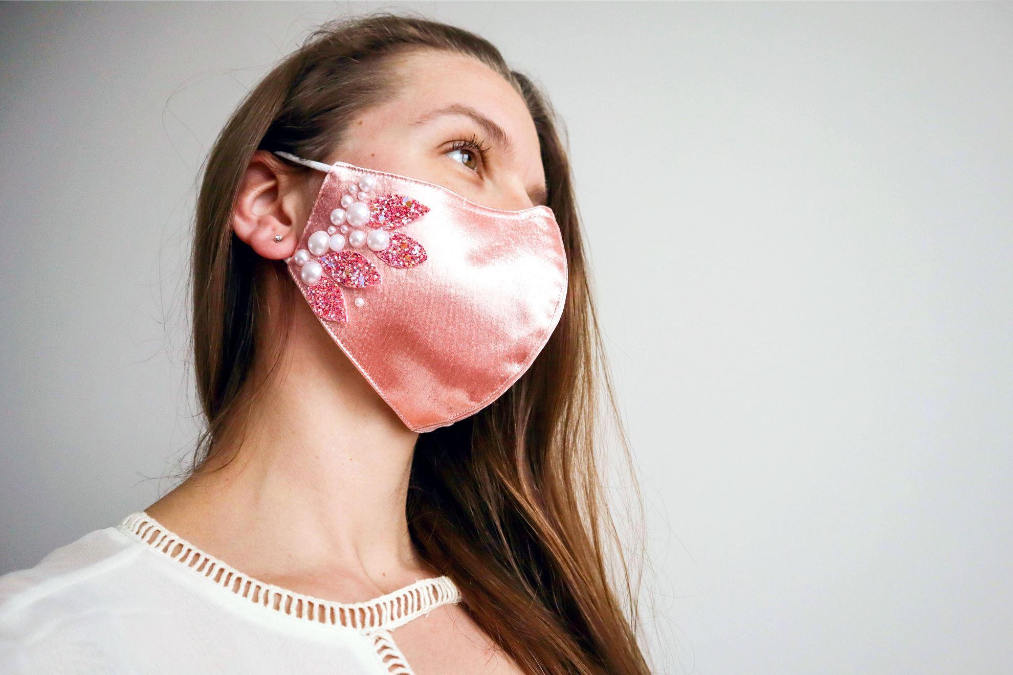 Gem-embellished bridal mask