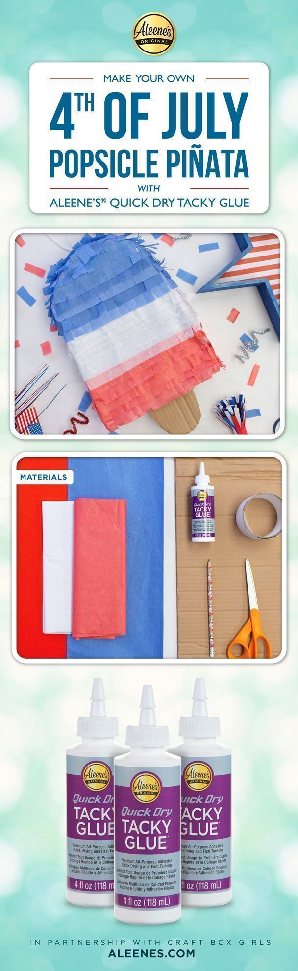 Make a Popsicle Piñata for Your 4th of July Party