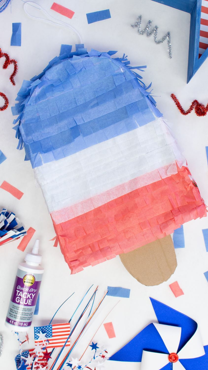 Popsicle Piñata for 4th of July