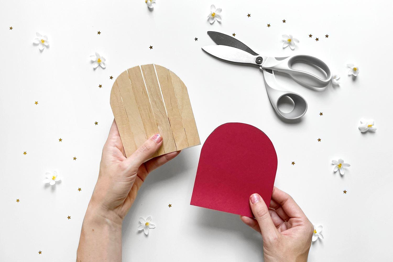 Cut door shape using template
