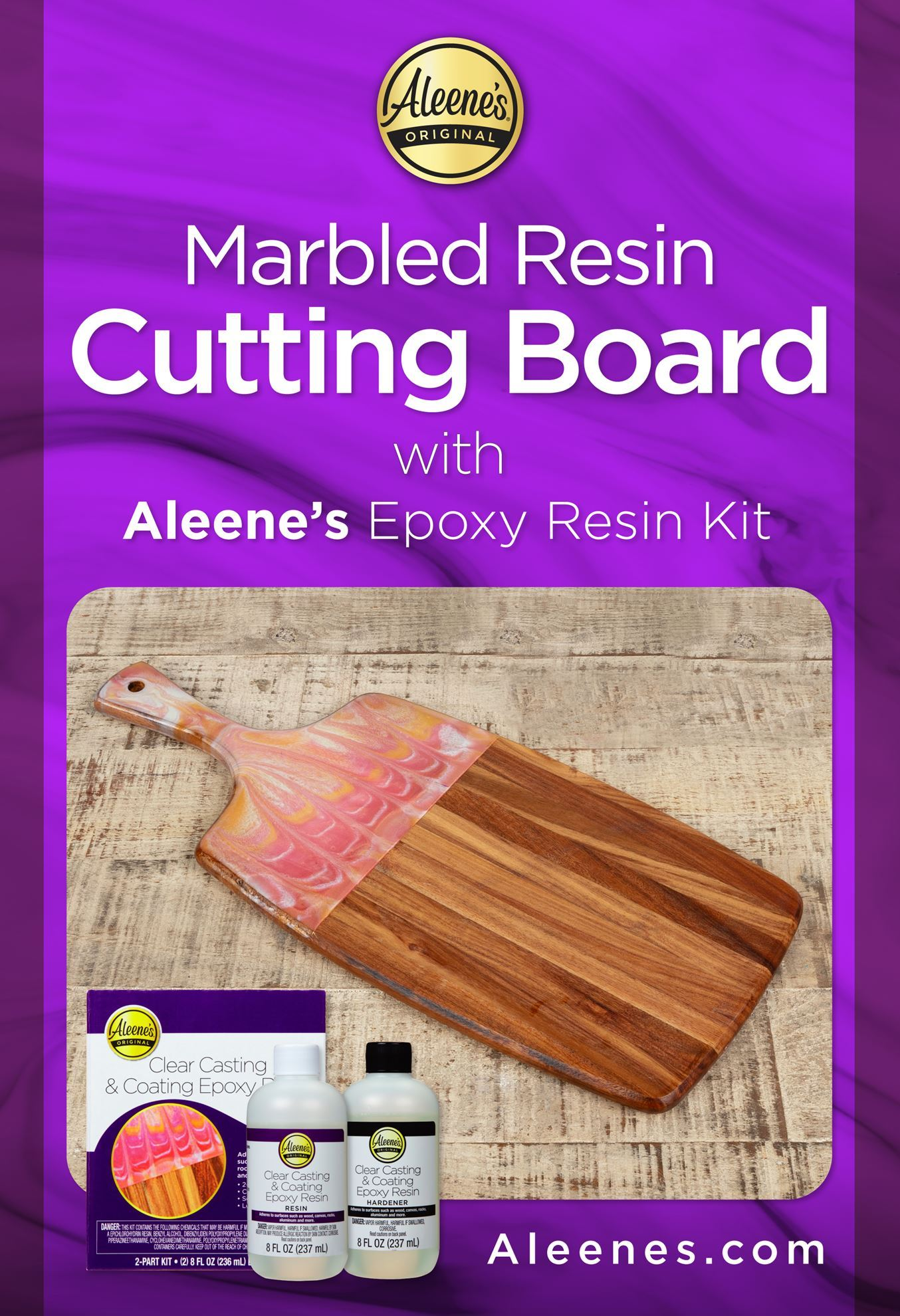Picture of Marbled Resin Cutting Board