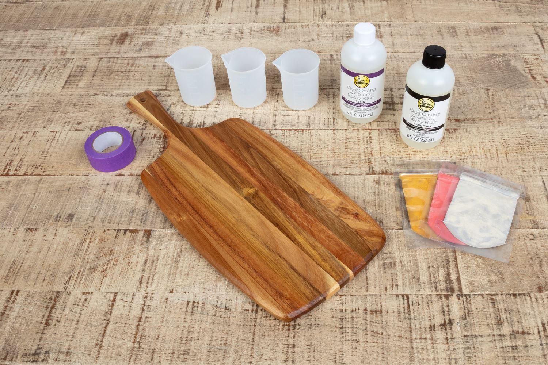 Resin cutting board supplies