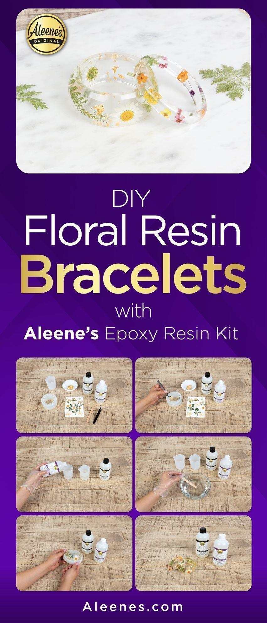 How To Make Floral Resin Bracelets