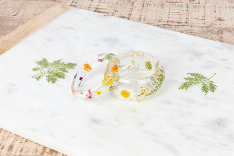 Aleene's Floral Resin Bracelets