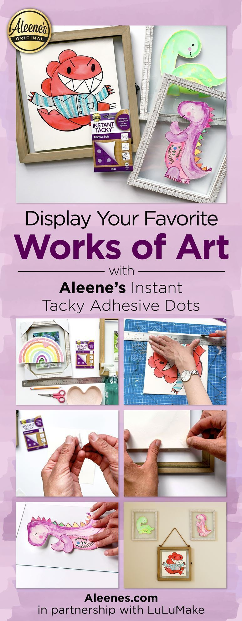 Framed Artwork Home Craft with Tacky Dots