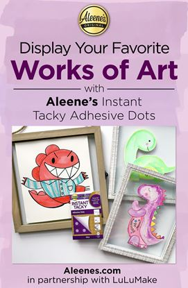 Picture of Framed Artwork Home Craft with Tacky Dots