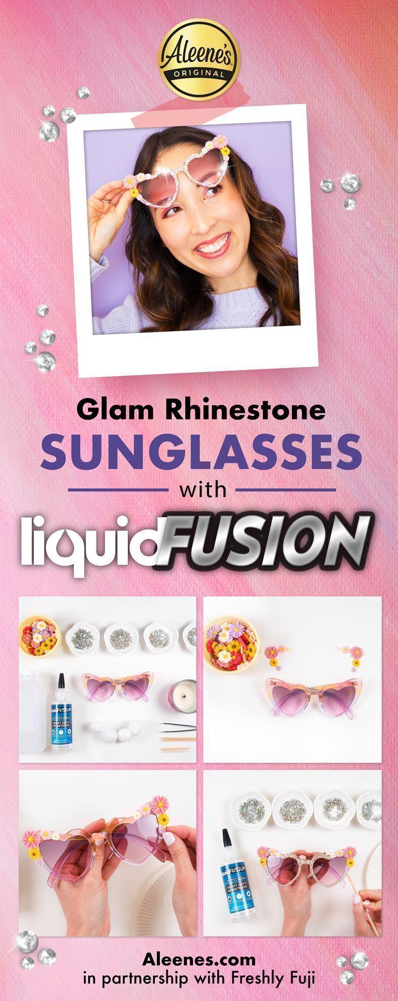 DIY Rhinestone Sunglasses with Liquid Fusion