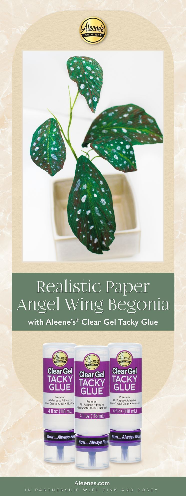 How To Make a Paper Angel Wing Begonia