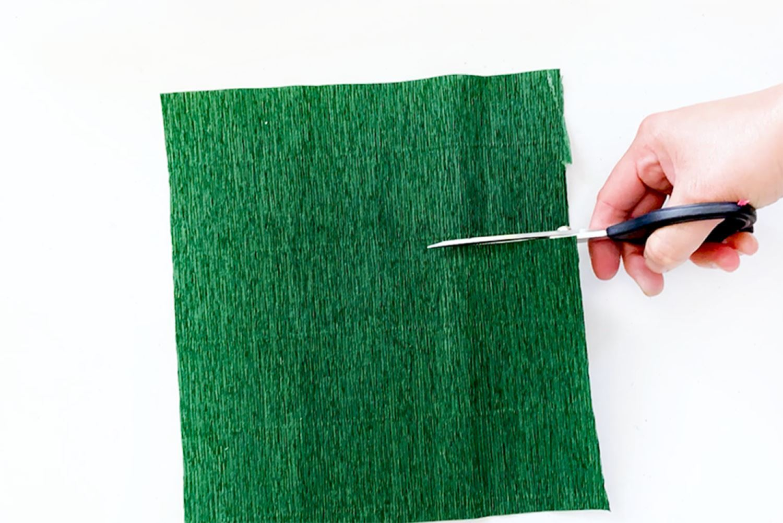Cut a strip of crepe paper