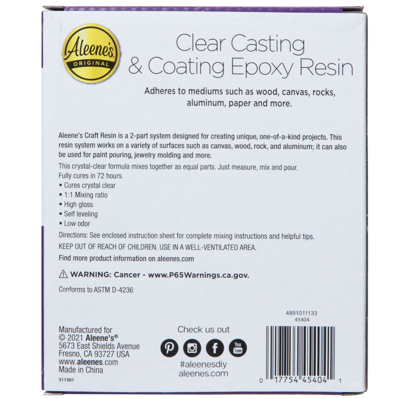Clear Casting & Coating Epoxy Resin Kit back of box