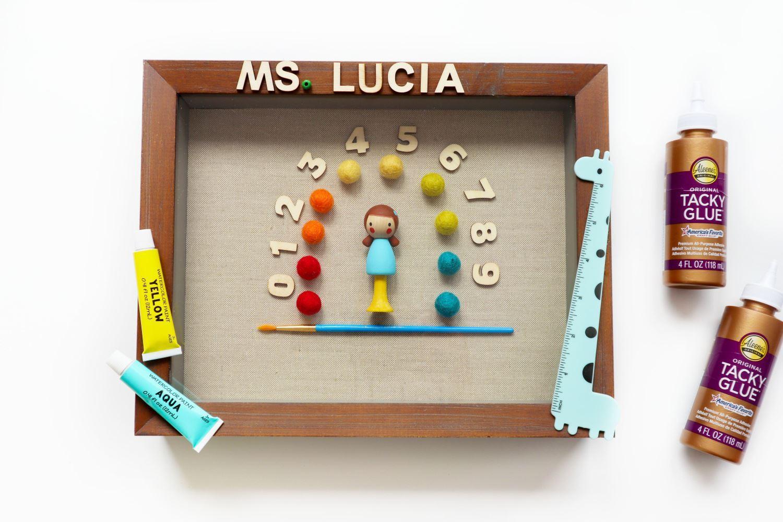 DIY teacher's gift with Tacky Glue