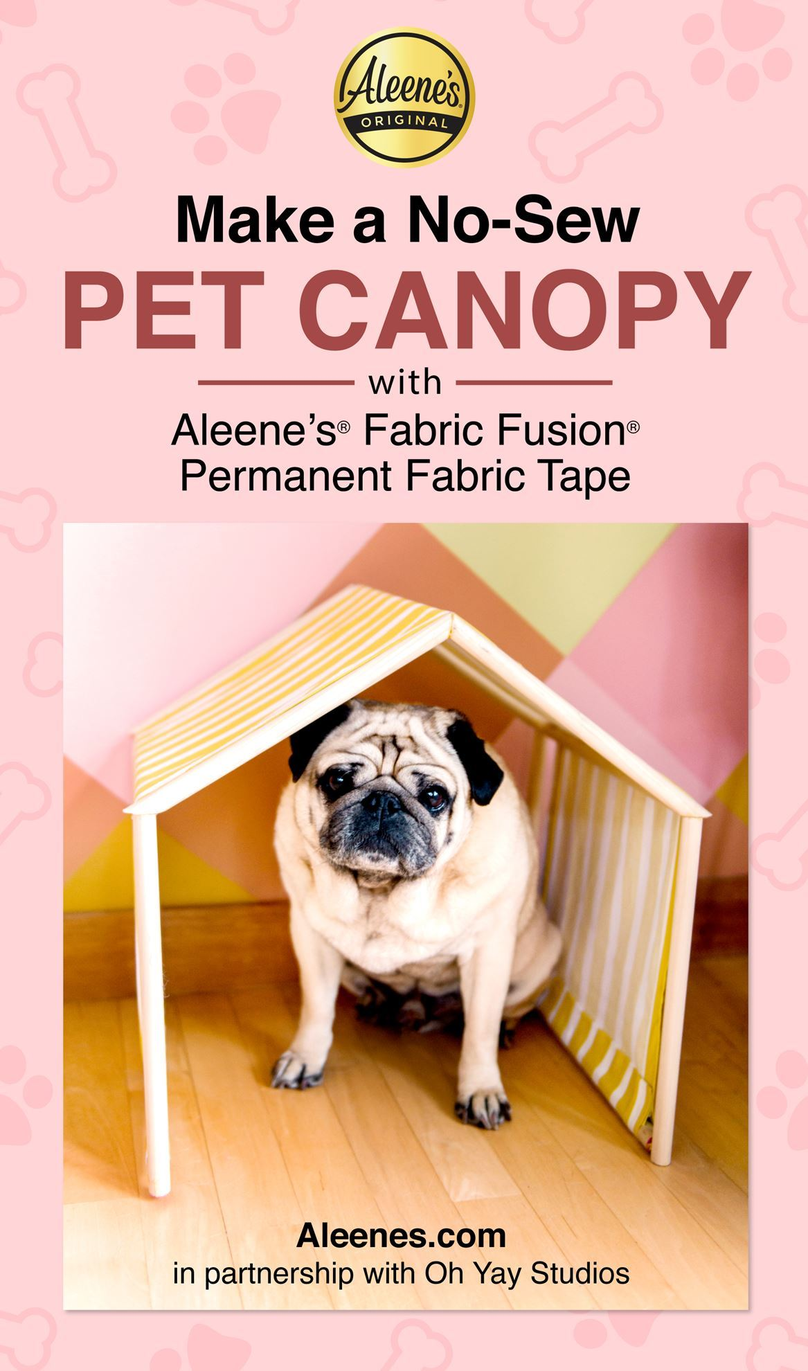 Picture of DIY No-Sew Pet Canopy with Fabric Fusion Tape