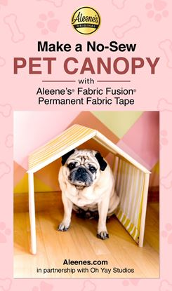 Picture of DIY No-Sew Pet Canopy with Fabric Fusion