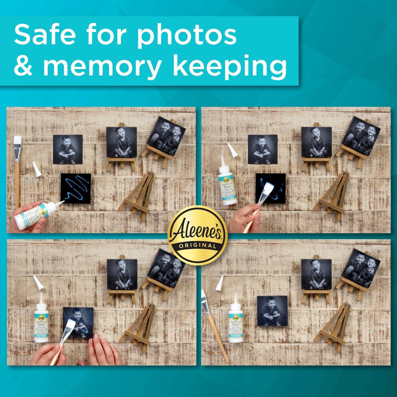 Memory Glue Adhesive photo application infographic