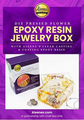 Picture of DIY Resin Epoxy Pressed Flower Jewelry Box