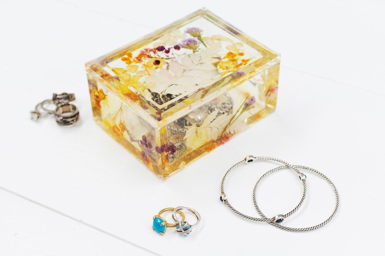 Pressed Flower Resin Epoxy Jewelry Box