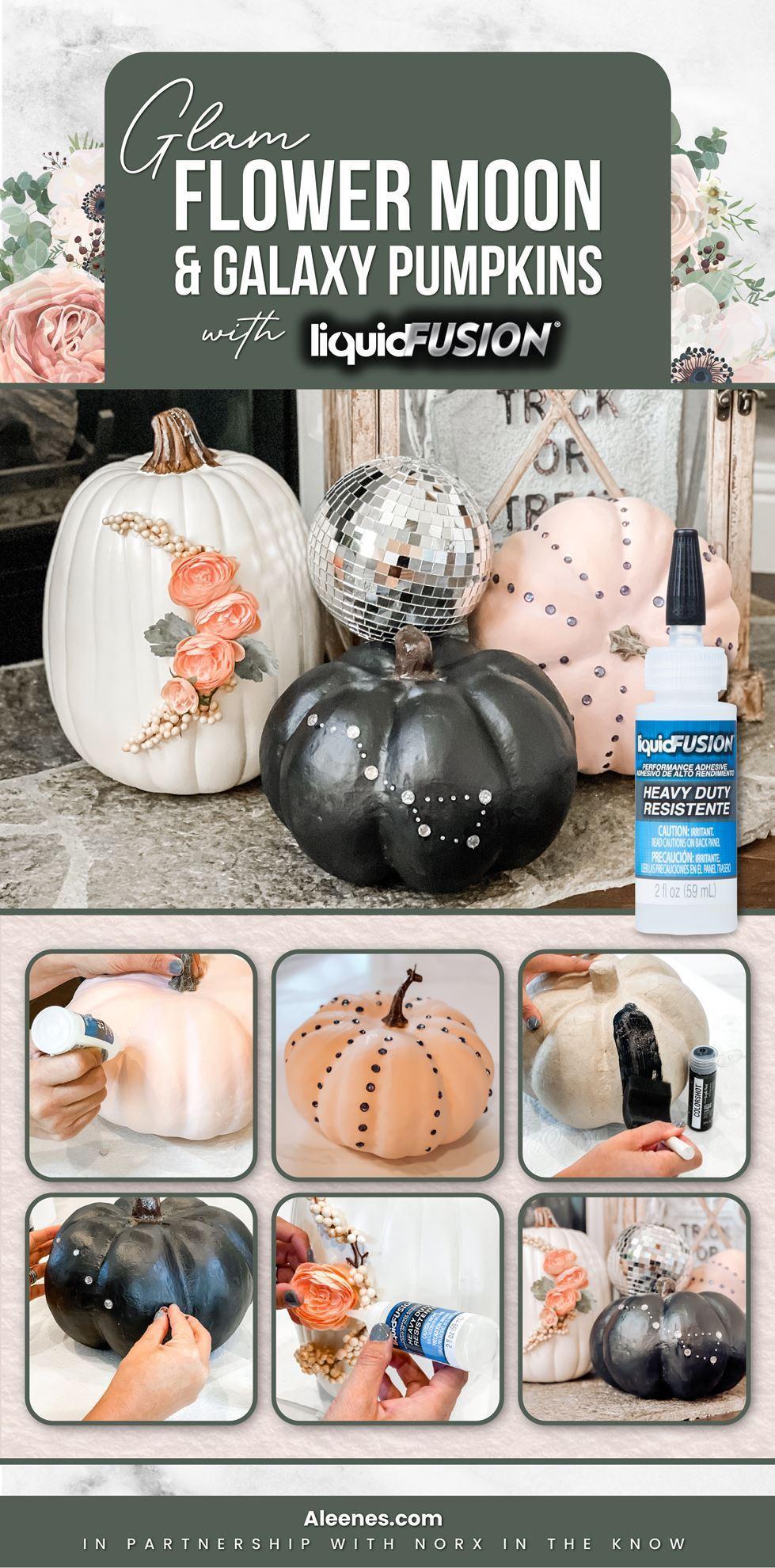 Glam Galaxy Creative Pumpkins Ideas